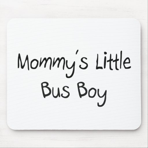 Mommys Little Bus Boy Mouse Mat