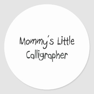 Mommys Little Calligrapher Stickers