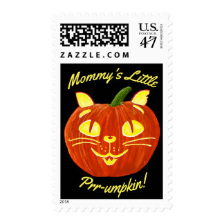 Mommy's Little Cat Pumpkin Prr-umpkin! Postage