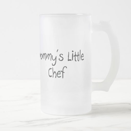 Mommys Little Chef 16 Oz Frosted Glass Beer Mug