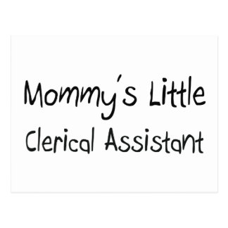Mommys Little Clerical Assistant Postcards