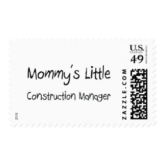 Mommys Little Construction Manager Postage Stamp
