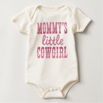 Mommy's Little Cowgirl Baby Bodysuit