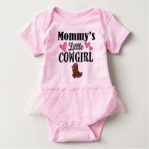 MOMMY'S LITTLE COWGIRL Tutu Bodysuit