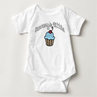Mommy's Little Cupcake - Blue Baby Bodysuit