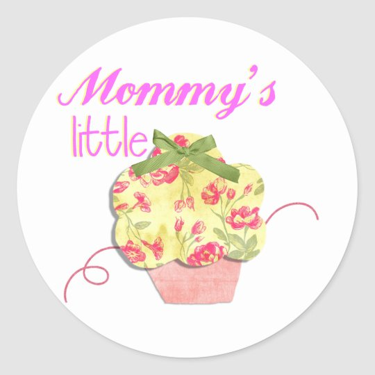 Mommy's Little Cupcake Classic Round Sticker