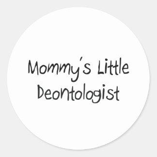 Mommys Little Deontologist Sticker