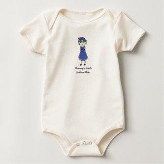 Mommy's Little Fashion Plate Baby Bodysuit