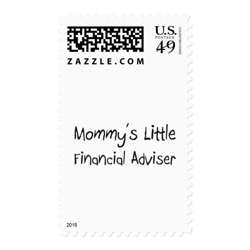 Mommys Little Financial Adviser Postage Stamp