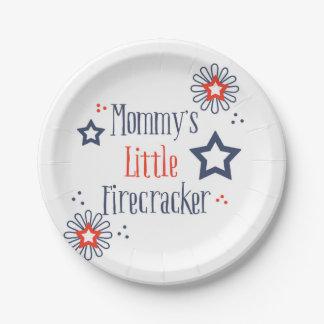 Mommy's Little Firecracker Paper Plate