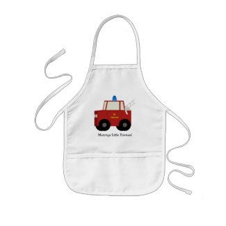Mommys Little Fireman! Childs Apron apron