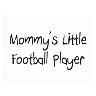 Mommys Little Football Player Postcard