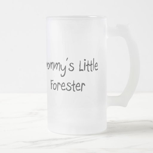 Mommys Little Forester 16 Oz Frosted Glass Beer Mug