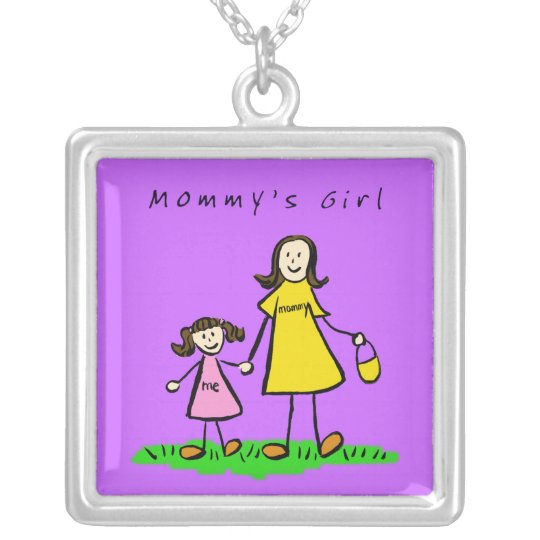 Mommy's Little Girl (Brunette) Necklace Pendant