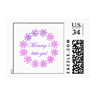 Mommy's Little Girl (pink flowers) Postage