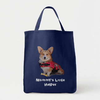 Mommy's Little Helper Corgi Canvas Bag