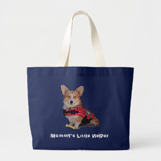 Mommy's Little Helper Corgi Tote Bag