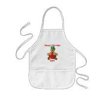 Mommy's Little Helper Gumdrop Gingerbread Man Kids' Apron