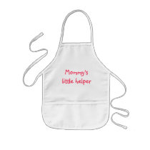 Mommys little helper kids' apron