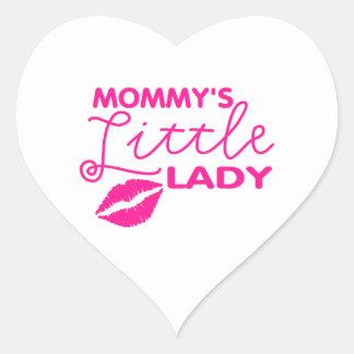 MOMMY'S LITTLE LADY HEART STICKER
