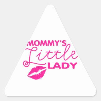 Mommy's Little Lady Triangle Sticker