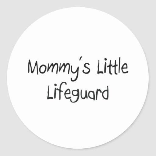 Mommys Little Lifeguard Round Stickers