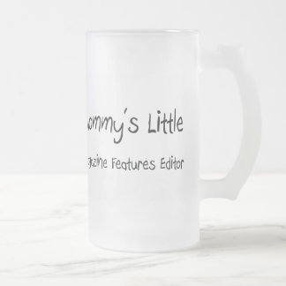 Mommys Little Magazine Features Editor 16 Oz Frosted Glass Beer Mug