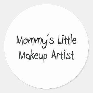 Mommys Little Makeup Artist Classic Round Sticker
