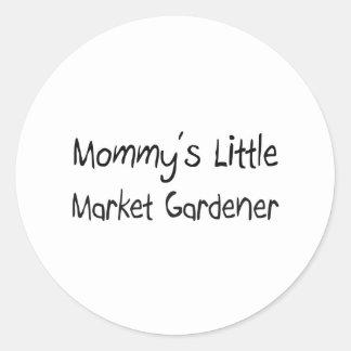 Mommys Little Market Gardener Round Sticker