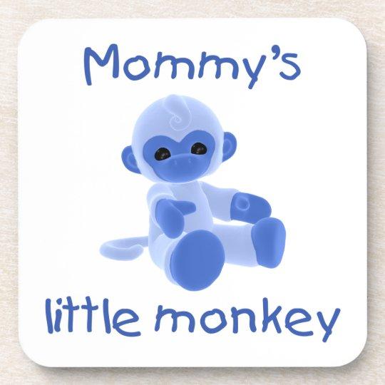 Mommy's Little Monkey (blue) Drink Coaster