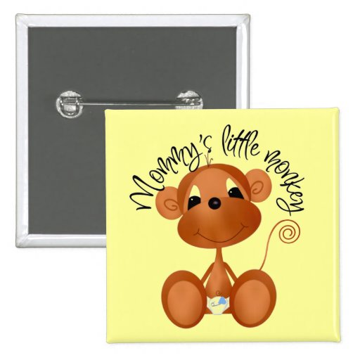 Mommy's Little Monkey - Boy Tshirts and Gifts Pin