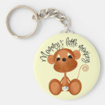 Mommy's Little Monkey - Boy Tshirts and Gifts Basic Round Button Keychain