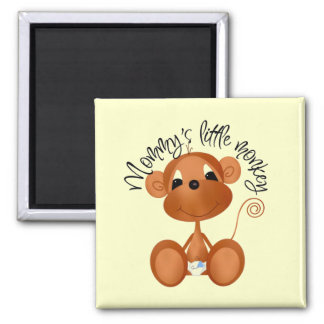 Mommy's Little Monkey - Boy Tshirts and Gifts Magnet
