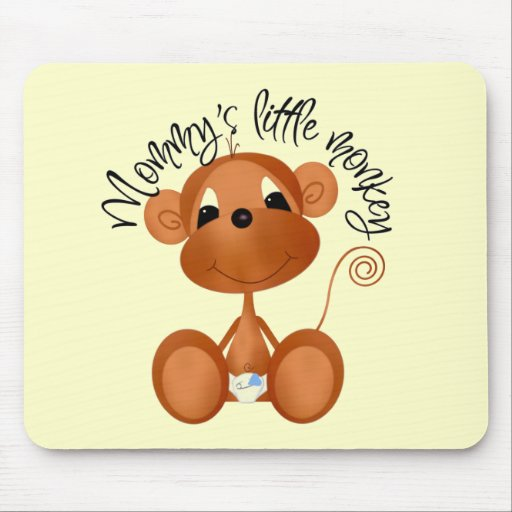 Mommy's Little Monkey - Boy Tshirts and Gifts Mousepads