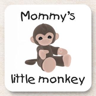 Mommy's Little Monkey (brown) Drink Coaster