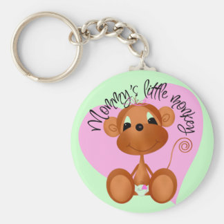 Mommy's Little Monkey - Girl Tshirts and Gifts Keychains