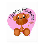 Mommy's Little Monkey - Girl Tshirts and Gifts Postcard