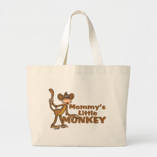 Mommy's Little Monkey Large Tote Bag