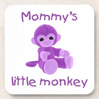 Mommy's Little Monkey (purple) Coaster