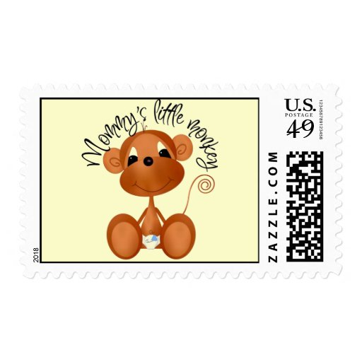 Mommy's Little Monkey Stamp