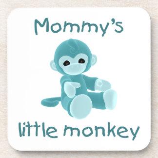 Mommy's Little Monkey (teal) Coaster