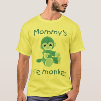 Mommy's Little Monkey (teal) T-Shirt