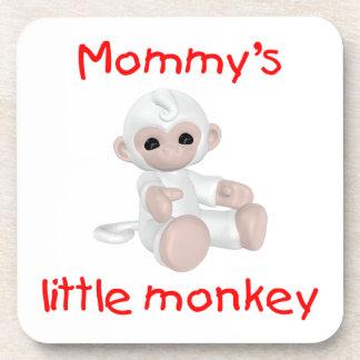 Mommy's Little Monkey (white) Coaster