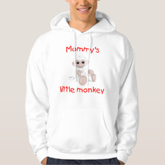 Mommy's Little Monkey (white) Hoodie