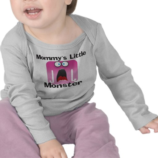 Mommy's Little Monster Pink T-shirts