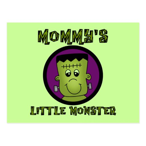 Mommy's Little Monster T-shirts and Gifts Post Cards