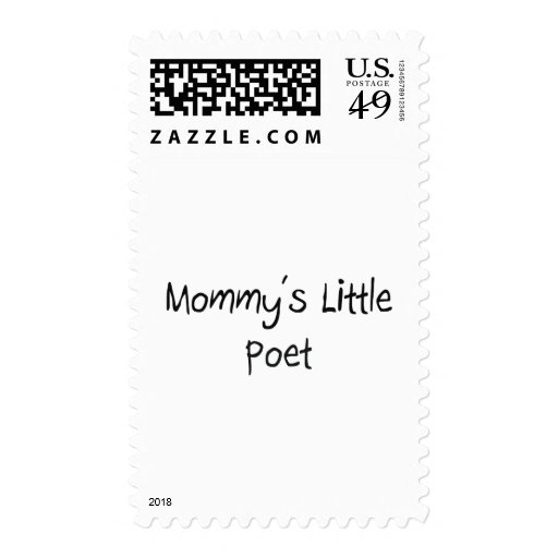 Mommys Little Poet Postage Stamps