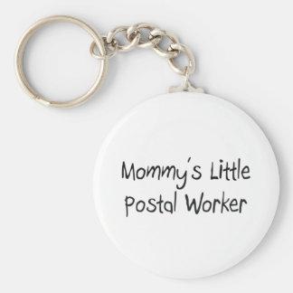 Mommys Little Postal Worker Basic Round Button Keychain