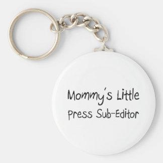 Mommys Little Press Sub-Editor Basic Round Button Keychain