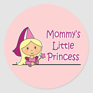 Mommy's Little Princess Classic Round Sticker